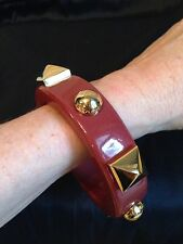 New MARC by MARC JACOBS CONCRETE JUNGLE Studded Bracelet  Bracelet Burgundy Gold