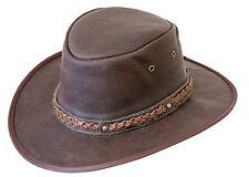 Scippis Kangaroo Sundowner Hut Känguruleder Lederhut Braun Cowboyhut Australien