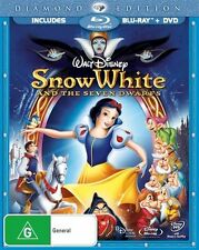 SNOW WHITE Diamond Edition (Walt Disney Classic Region B Blu-Ray+ Region 4 DVD)