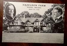 PRESIDENT TAFT 1st CAMPAIGN RALLY HAZELDEN FARM BROOK INDIANA Sept 1908 Postcard