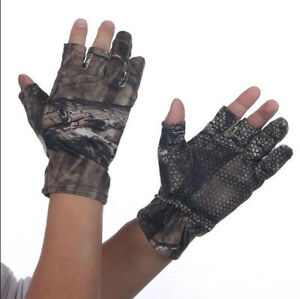 New Men Cycling Bicycle Half Finger Antiskid Fishing Traing Exercise Camo Gloves