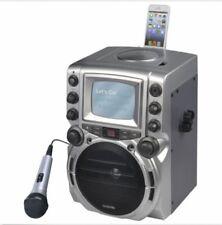 "GQ752Portable Karaoke Machine CD/CD+G Music with 5.5"" B/W Monitor"