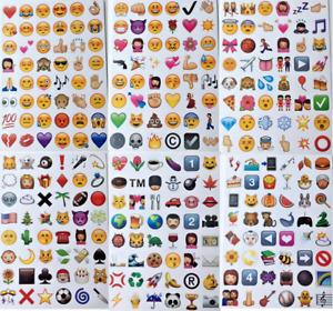 288 Emoji Stickers, Smile Face Poo Symbols DIY Diary Cute Mini Scrapbooking Gift