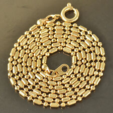 Womens Beaded Chain Necklace,Attractive 9K Solid Gold Filled,20 Inch,Z4140