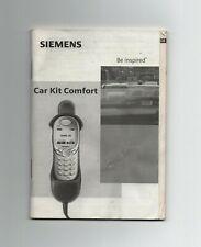 Siemens Car Kit Comfort C45,M50,S45,MT50, Bedienungsanleitung Einbauanleitung