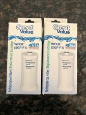 (2) Great Value WFCB SGF-F1 Refrigerator Water Filter Replacement Cartridge NEW