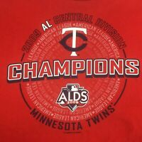 MLB Genuine Merch Minnesota Twins AL Central Division Champions T-Shirt Sz 2X