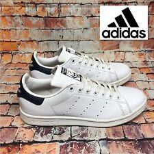 Adidas Originals Stan Smith Mens Leather Shoes Sneakers White US 9