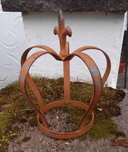 Prächtige Krone zum Bepflanzen Pflanztopf Eisen massiv Echtrost 22 cm