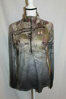 Under Armour Womens UA Tech Faded 1/4 Zip Hunting Shirt Barren Camo MSRP $55 NEW