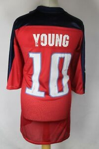 YOUNG 10 Tennessee Titans American Football Jersey Shirt Mens XL Reebok Red
