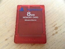 PS2 Memory Card 8mb Playstation 2 Red Original Sony Magic Gate
