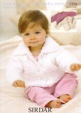 Sirdar 1775 Baby Childrens Cardigans Knitting Pattern  - Chunky Knit