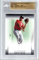 JUSTIN FIELDS 2017 LEAF PERFECT GAME Black PARALLEL ROOKIE CARD! BGS - SLABBED!