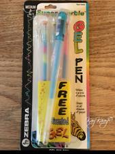 VTG 90's Set of 3 +1 Zebra JJ103 Super Marble Ink Gel Ballpoint Pens Trio Color