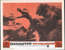 GODZILLA RAIDS AGAIN/GIGANTIS THE FIRE MONSTER orig 1959 lobby card poster #4