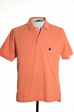 Brooks Brothers Performance Polo Mens S Orange Golden Fleece Polo Rugby Shirt