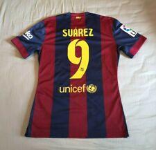Barcelona 2014-15 Home Player Issue M Shirt Luis Suarez