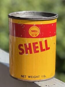 Shell Grease Tin 1lb with impressed shell lid