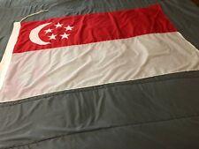 Flag of Singapore Silk Cloth 32 X 51 inches