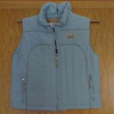 Kinder Mädchenweste hellblau warm + Taschen Gr. 140 - Girlswear