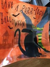 Prima Design Halloween Black Cat Witch Glass Bowl Candy Dish Large