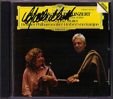 Anne-Sophie MUTTER Signiert BRAHMS Violinkonzrt KARAJAN CD Violin Concerto DG