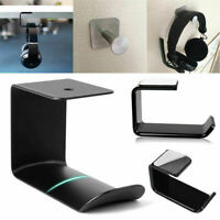 Headphone Stand Acrylic Hook Hanger Tape Under Desk Dual Headset Mount Holder yk
