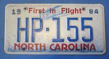 1984 North Carolina Highway Patrol License plate low number