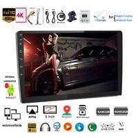 9''2 Din Android GPS Car Radio+Carplay Siri Airplay FM +CAM Mirror Link BT Wifi