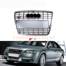 For 2005-2011 Audi A6 Quattro C6 S6 Style Chrome Front Hood Bumper Grill Grille