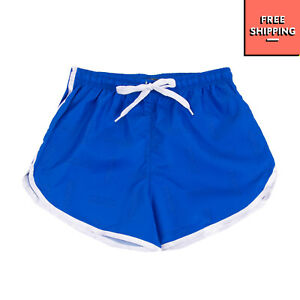START UP Shorts Size 10Y Logo Print Side Straps Drawstring Waist Made in Italy