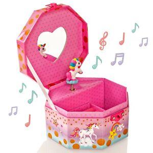 Style Girlz Unicorn Musical Lockable Girls Jewellery Box With Pad Lock & Key