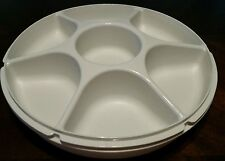 Tupperware Almond Chip and Vegetable Dip Container Server With Center Dip Cup