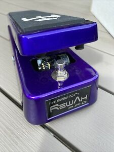 Mission Rewah Pro Wah Wah Guitar Effects Pedal Purple Used