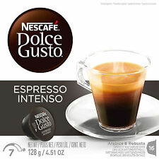 Dolce Gusto Espresso Intenso Coffee (3 Boxes,Total 48 Capsules ) 48 Servings