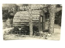 RPPC California Redwood Restroom His & Her Sequoia National Park VTG outhouse