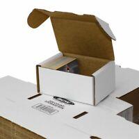 (50) BCW 300 Count White Corrugated Cardboard Baseball Trading Card Storage Box
