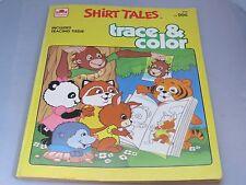 Vintage Shirt Tales Trace & Color book 1984