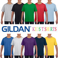 Gildan Cotton Plain Childrens T Shirt Boys Girls T-Shirt Top Wholesale Supplier