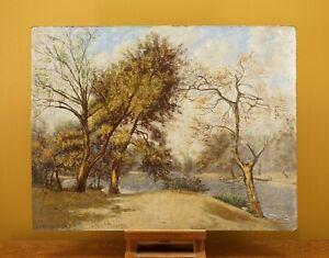 Leytonstone, Waltham Forest   Mid-Century Vintage Autumn Landscape Oil Painting