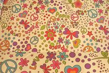 1 1/2 Yards Peace and Love Cream