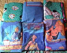 Lot Pocahontas 101 dalmatiens Disney CTI housse de couette drap bedding vintage