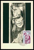 SPAIN MK 1962 BERRUGUETE HOLZSCHNITZEREI SKULPTUR CARTE MAXIMUM CARD MC CM cf65