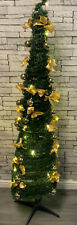 BRAND NEW BOXED POP UP CHRISTMAS TREE 6ft  60 LED ARTIFICIAL WITH BOWS