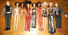MIX LOT 7 SPICE GIRLS DOLLS BARBIE-SIZE FROM GALOOB & 2 JUSTIN BIEBER DOLLS