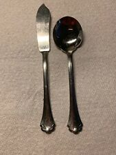 Oneida MIDTOWNE Glossy USA Stainless Flatware -- Butter Knife & Sugar Spoon
