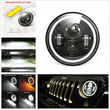 1pcs 7'' 100W LED Car Motorcycle Headlight Dual Color Halo DRL&Turn Signal Light