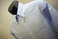 41023 Mens Brooks Brothers 1818 Regent Long Sleeve Plaid Dress Shirt Size Large