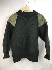 Black Sheep Pure Natural Oiled Wool Green Fisherman Sweater Green Sz XL SHURNK S